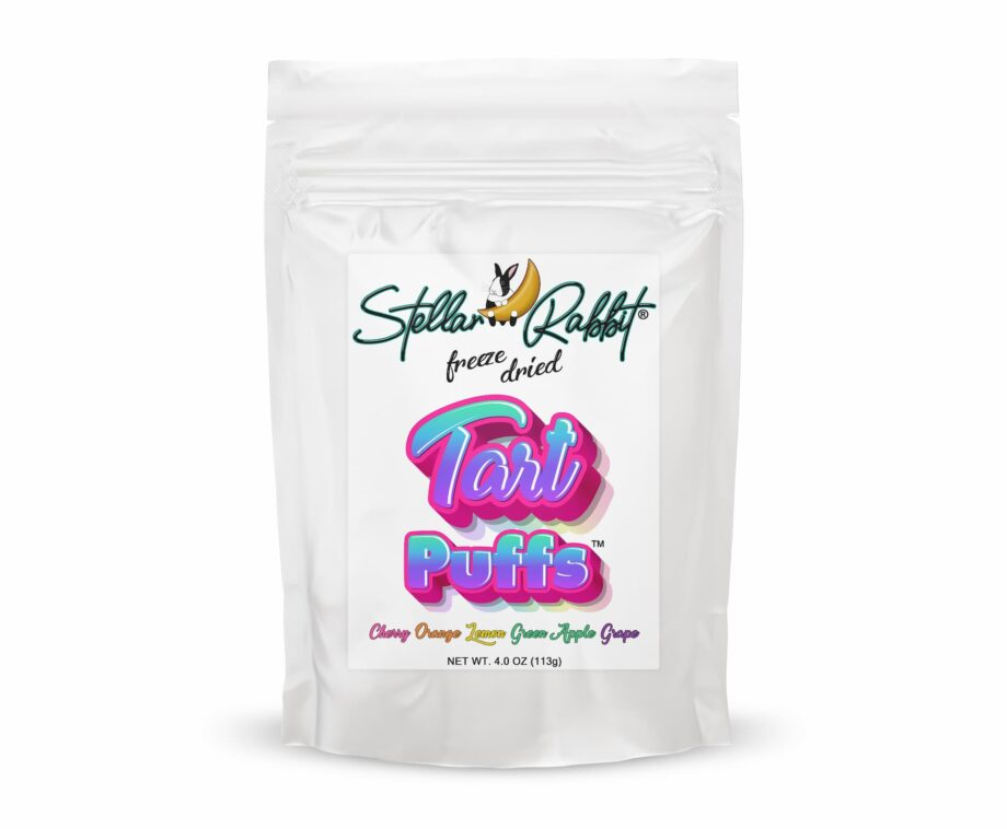 Freeze Dried Tart Puffs™ Made with Sweettarts® Packaging
