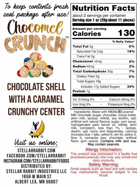Chocomel Crunch™ Nutritional values Label